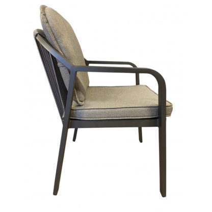 Tierra Pep dining chair charcoal detail 2