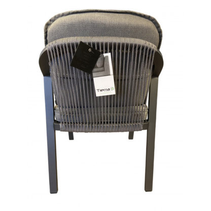 Tierra Pep dining chair charcoal detail 3