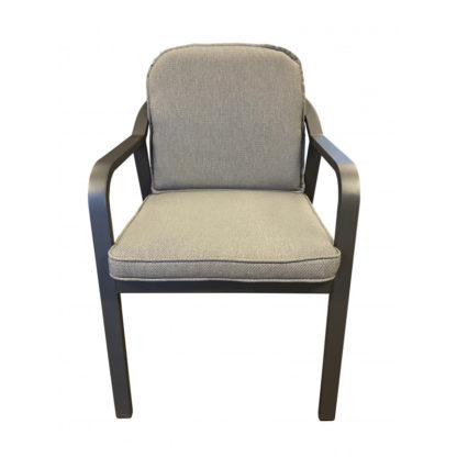 Tierra Pep dining chair charcoal detail